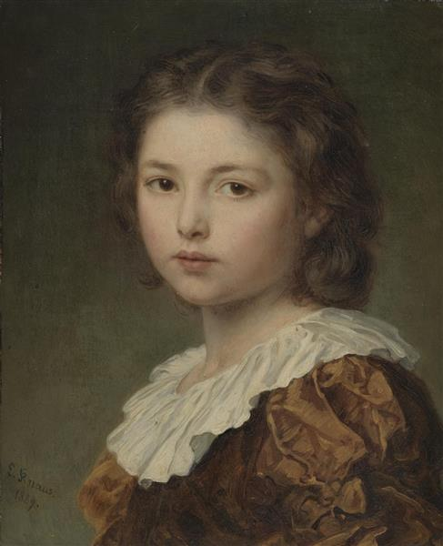 Portrait of a Young Girl, 1884 - Ludwig Knaus