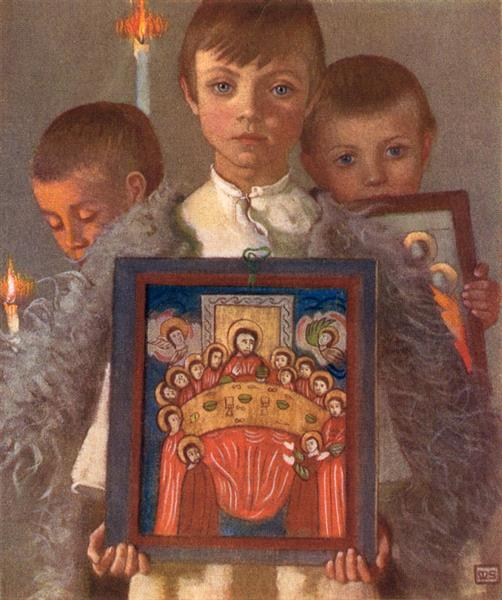 Group in a Rumanian Religious Procession, Desze - Marianne Stokes