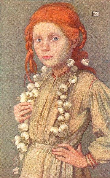 Garlic Seller, 1909 - Marianne Stokes