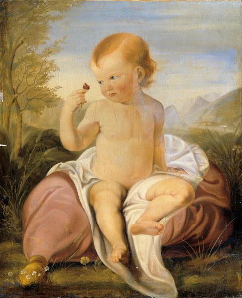 Kind Mit Wickenblüte - Philipp Otto Runge
