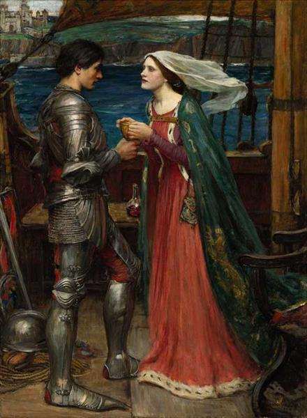 Tristram and Isolde, 1916 - John William Waterhouse