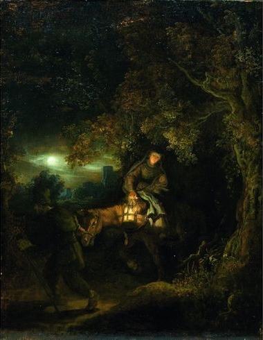 The Flight into Egypt, c.1640 - Рембрандт