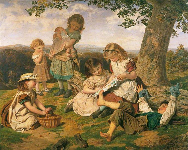 The Children's Story Book - Sophie Gengembre Anderson