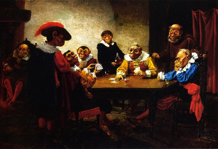 The Poker Game, 1888 - William Holbrook Beard