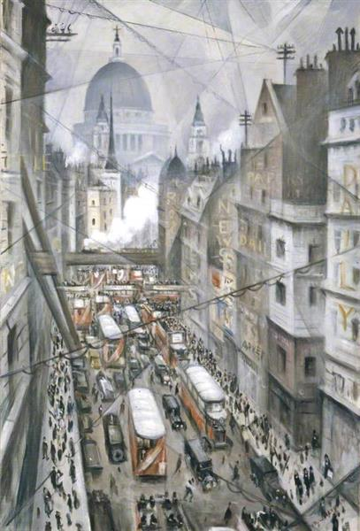 Amongst the Nerves of the World, 1930 - C. R. W. Nevinson