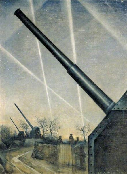 Anti Aircraft Defences, 1940 - C. R. W. Nevinson