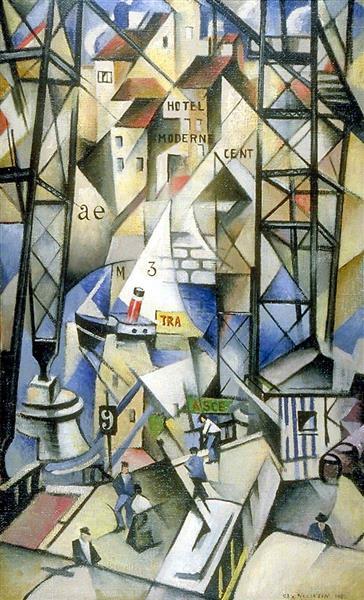 Le Vieux Port, 1913 - Кристофер Невинсон