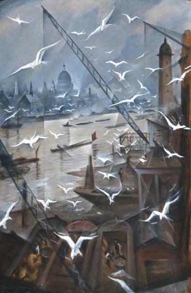 London, Winter, 1928 - C. R. W. Nevinson