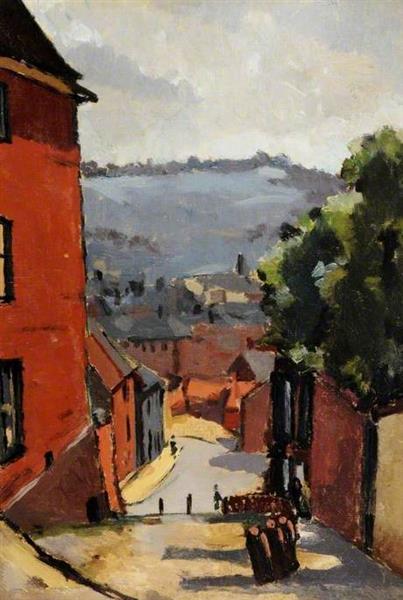 Steep Hill, Lincoln - C. R. W. Nevinson