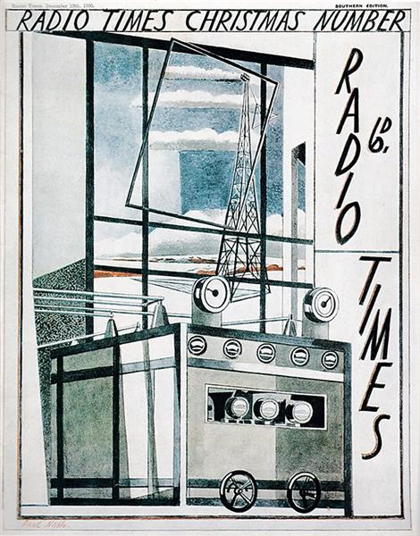 Cover of the Radio Times Christmas Number for 1930, 1930 - Paul Nash