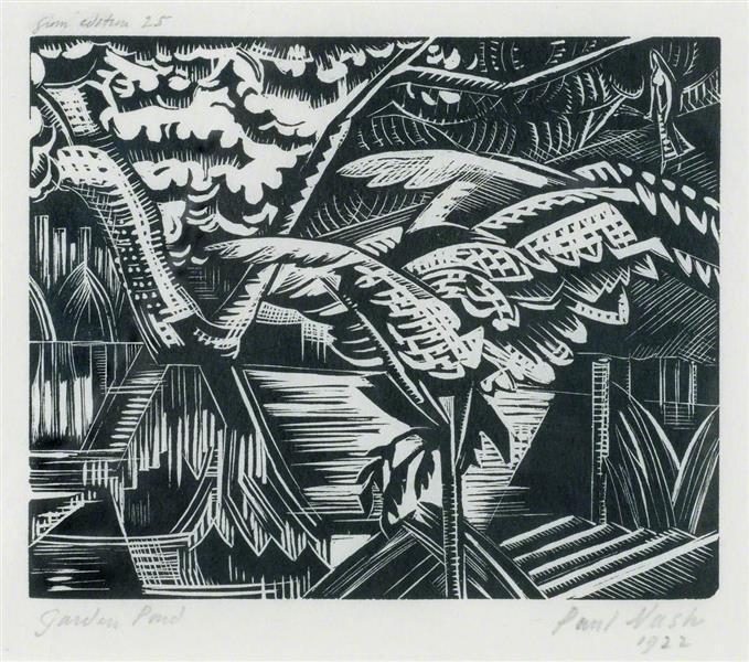 Garden Pond, 1922 - Paul Nash