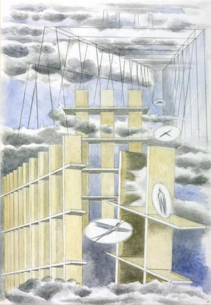Mansions of the Dead, 1932 - Paul Nash