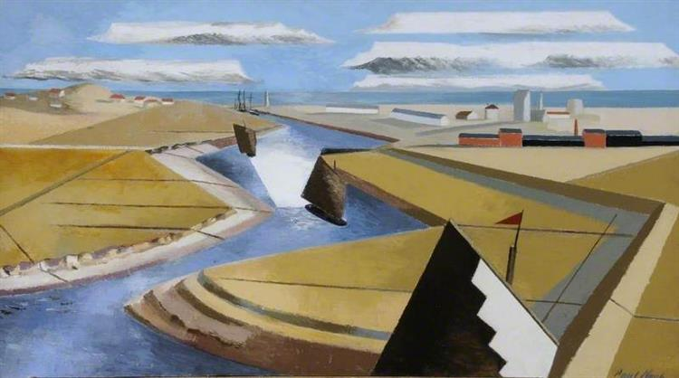 The Rye Marshes, East Sussex, 1932 - Paul Nash