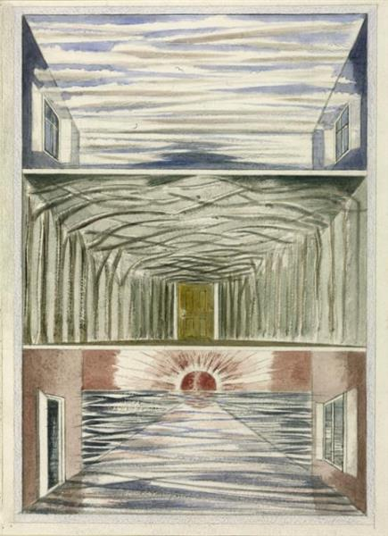 Three Rooms, 1937 - Paul Nash