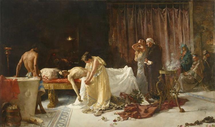 La Muerte De Lucano - José Garnelo