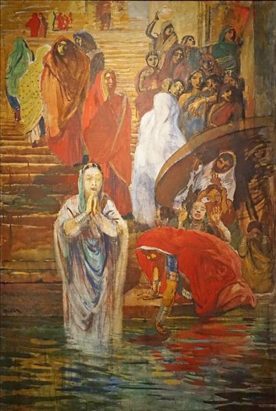 Sur un des escaliers de Bénarès, 1912 - Paul-Albert Besnard