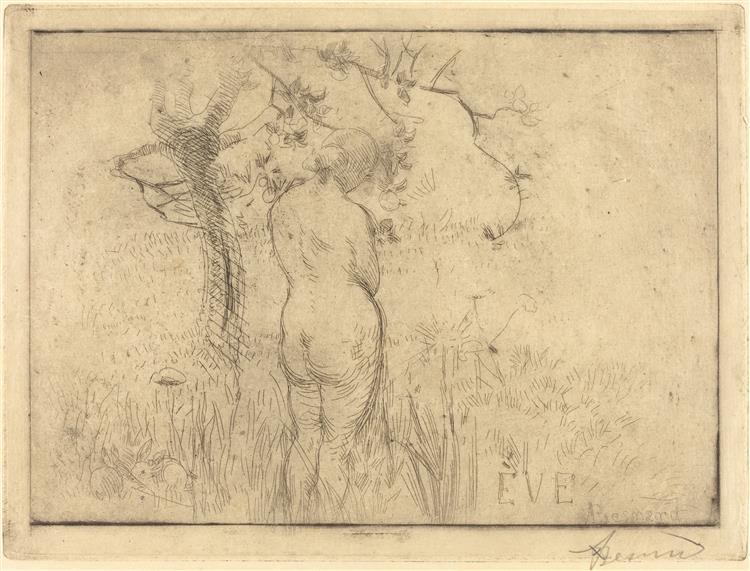 Eve Before the Apple Tree, 1892 - Paul-Albert Besnard