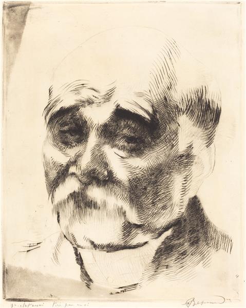 Georges Clemenceau, 1917 - Paul-Albert Besnard