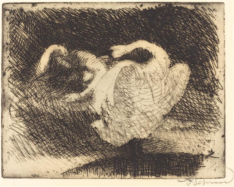 Leda Sleeping, 1913 - Paul-Albert Besnard