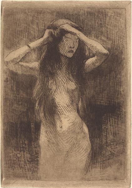 Nude Girl Combing Her Hair, 1887 - Paul-Albert Besnard