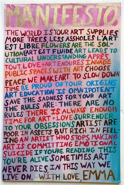 Manifesto, 2017 - Emma Odette