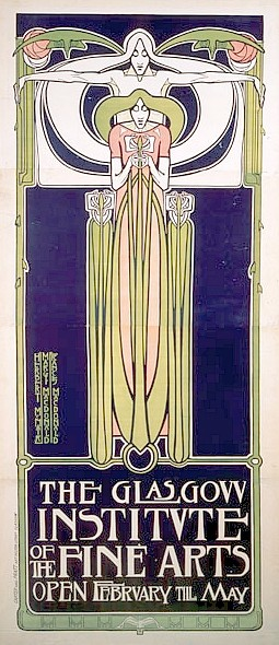 Poster for the Glasgow Institute of the Fine Arts, 1896 - Фрэнсис Макдональд Макнейр
