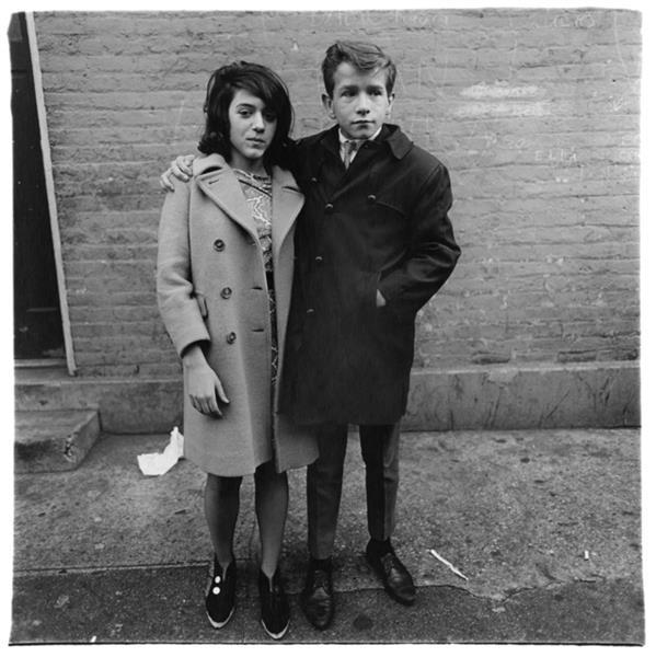 Teenage Couple on Hudson Street, N.Y.C., c.1963 - Diane Arbus