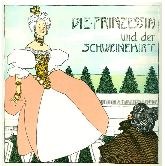 Titel a Schweinehirt, c.1897 - Heinrich Lefler