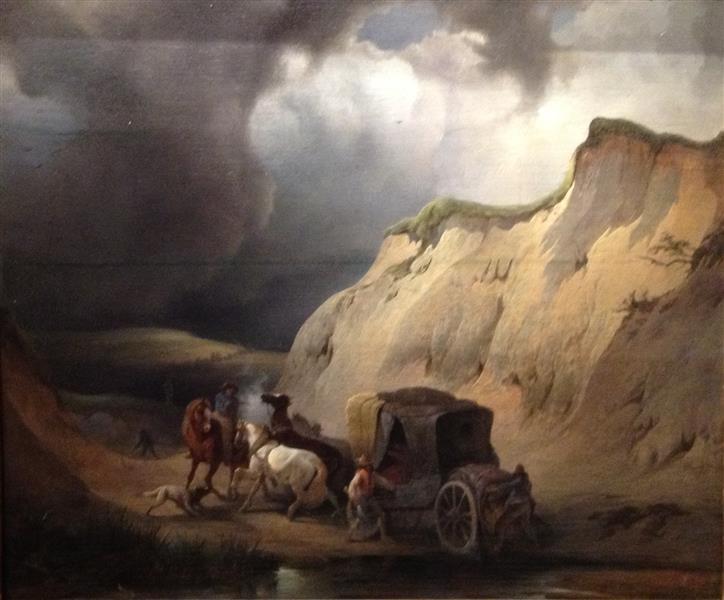 Attack on the Stagecoach, c.1850 - Jenaro Pérez Villaamil