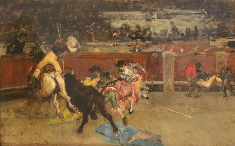 Corrida de toros. Picador herido., c.1867 - Marià Fortuny