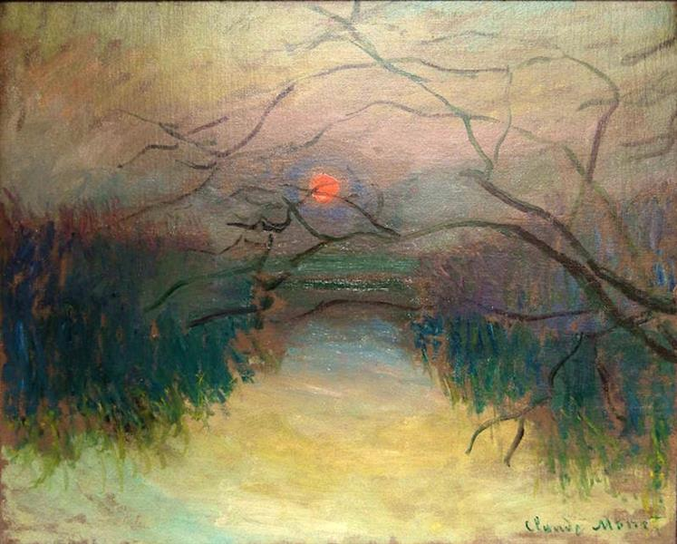 Sunset, 1880 - Claude Monet