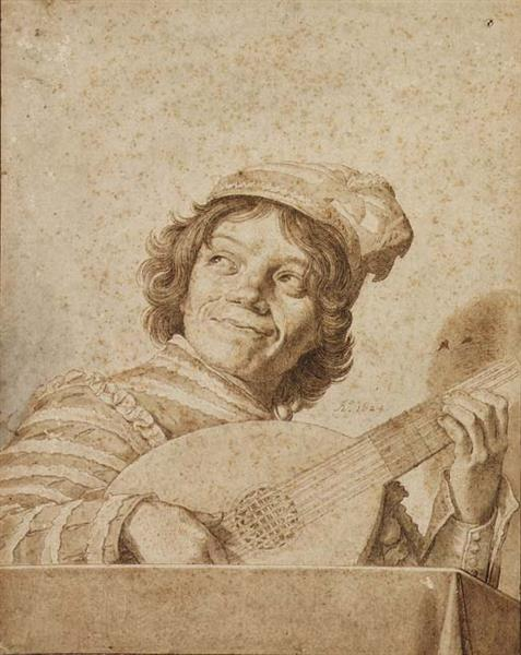 The Lute Player, After Frans Hals, 1624 - David Bailly