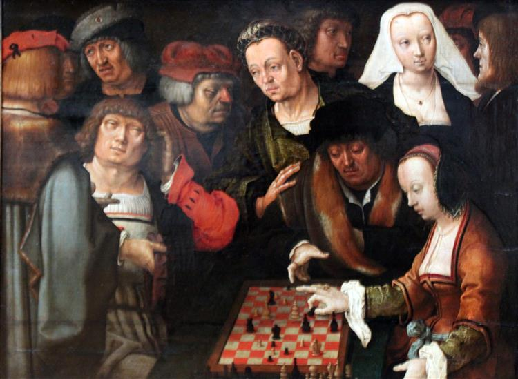 the Game of Chess, 1518 - Lucas van Leyden
