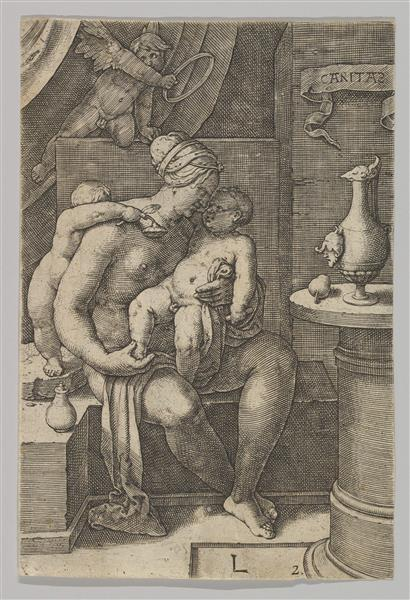 Charity, from the Series the Virtues, c.1530 - Лукас ван Лейден