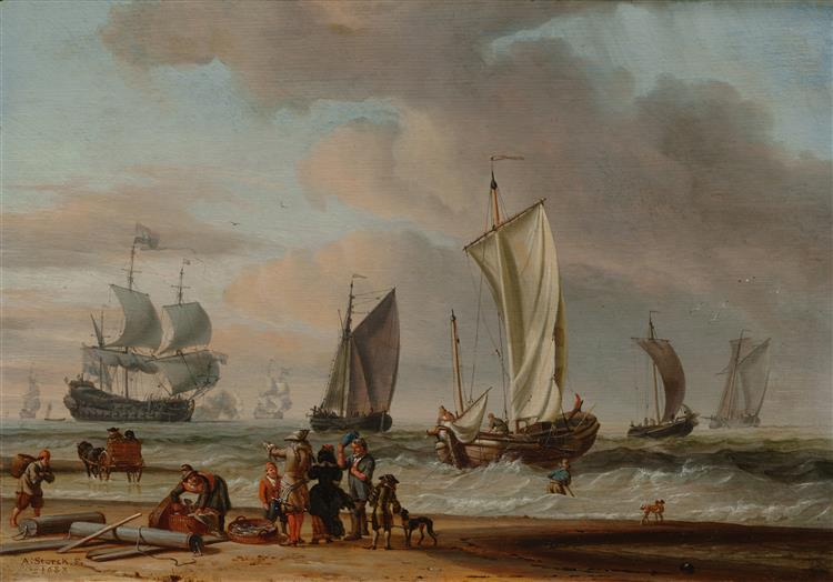Beach View, 1683 - Abraham Storck