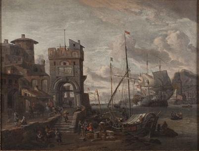 An Italian Harbor - Abraham Storck
