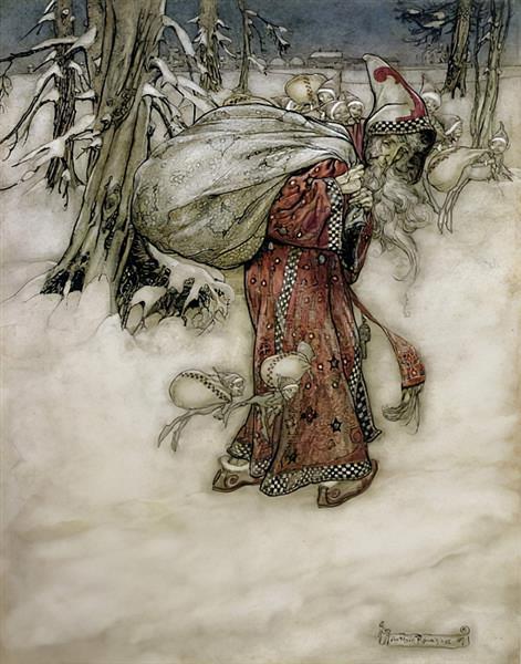 Santa Claus, 1907 - Arthur Rackham