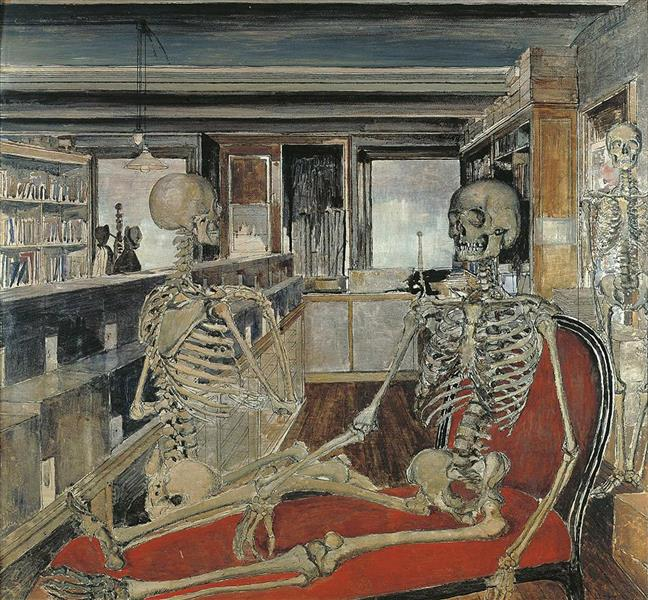 The Skeletons, 1944 - Paul Delvaux
