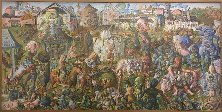 La Grande Ferne - Hommage à Bernard Réquichot, 1962 - 1963 - Dado