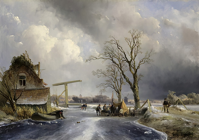 Winter Scene in Holland, 1846 - Johan Jongkind