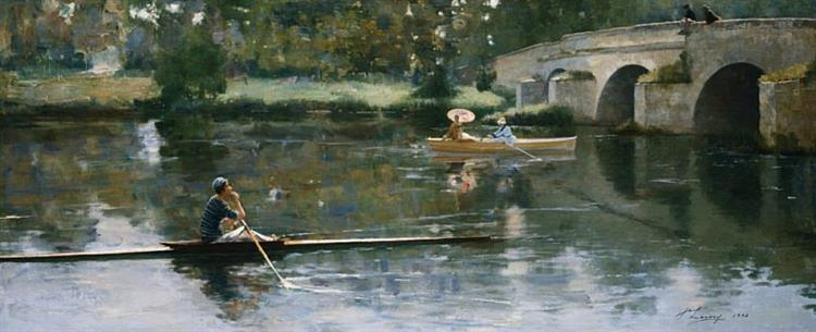 The Bridge at Grez, 1883 - John Lavery