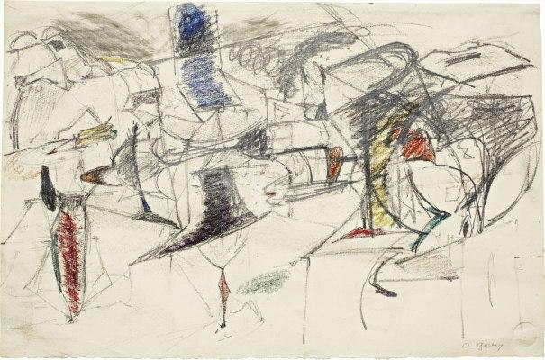 Study for Agony, c.1946 - c.1947 - Arshile Gorky