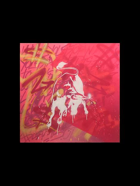 Bull in Fluor Pink, 2019 - 2020 - Enrique Enn