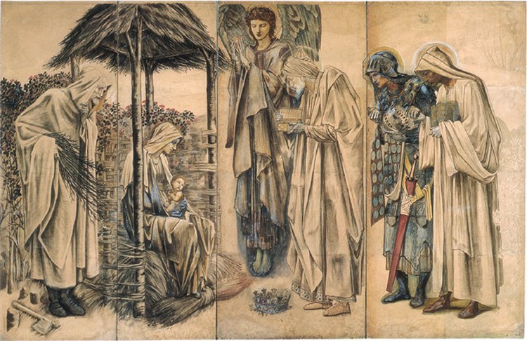 The Adoration of the Magi Tapestry Cartoon, 1888 - William Morris