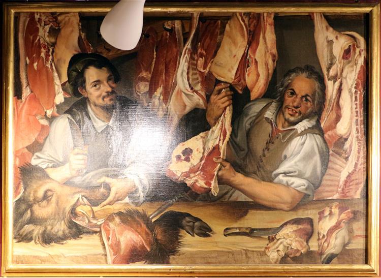 A Butchery, c.1575 - Bartolomeo Passarotti
