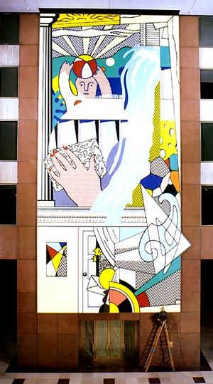Mural with Blue Brushstroke, 1986 - Roy Lichtenstein