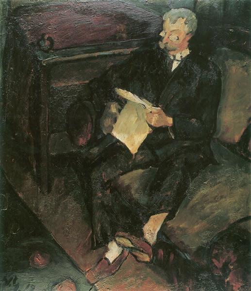 Man reading (Father), 1917 - Walter Gramatté