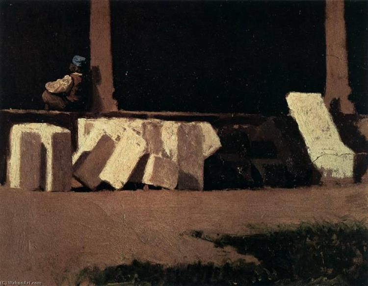 Cloister, 1861 - 1862 - Giuseppe Abbati