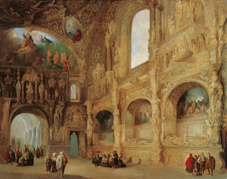 The Chapel of the Benavente Family in Medina De Rioseco, 1842 - Jenaro Pérez Villaamil