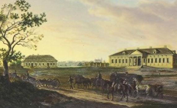 Bačejkaŭ, manor of Ciechanowiecki, 1812 - Albrecht Adam